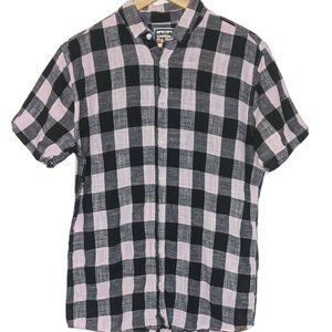 Park Pink & Black check button shirt